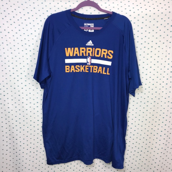 NEW Golden State Warriors Blue Adidas Practice Tee 09d921f9f